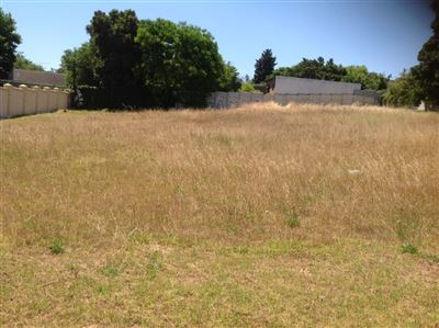 Vacant Land for sale in Durbanville