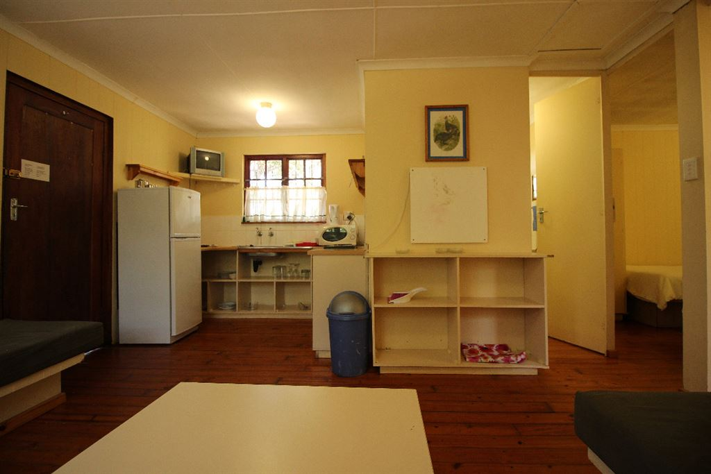 Kitchen area of one of the family units. Bathroom and bedroom 2 are on the right