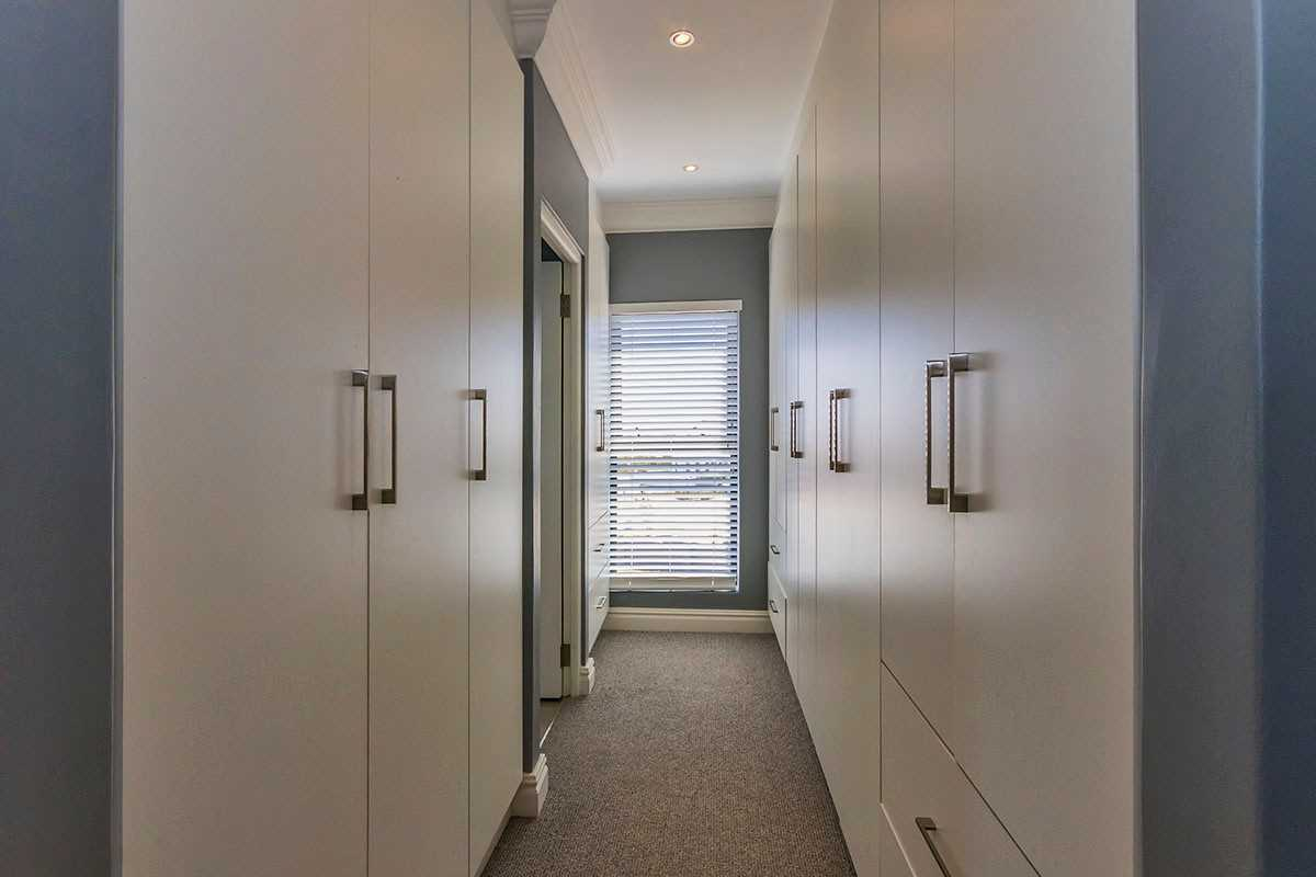 Walk in closets master bedroom