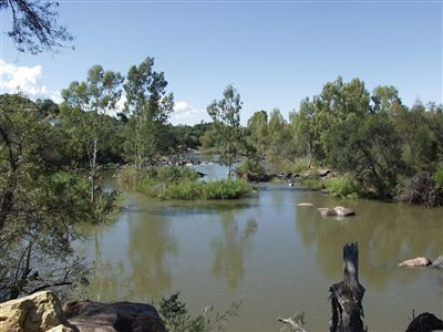 River frontage stand close to Parys