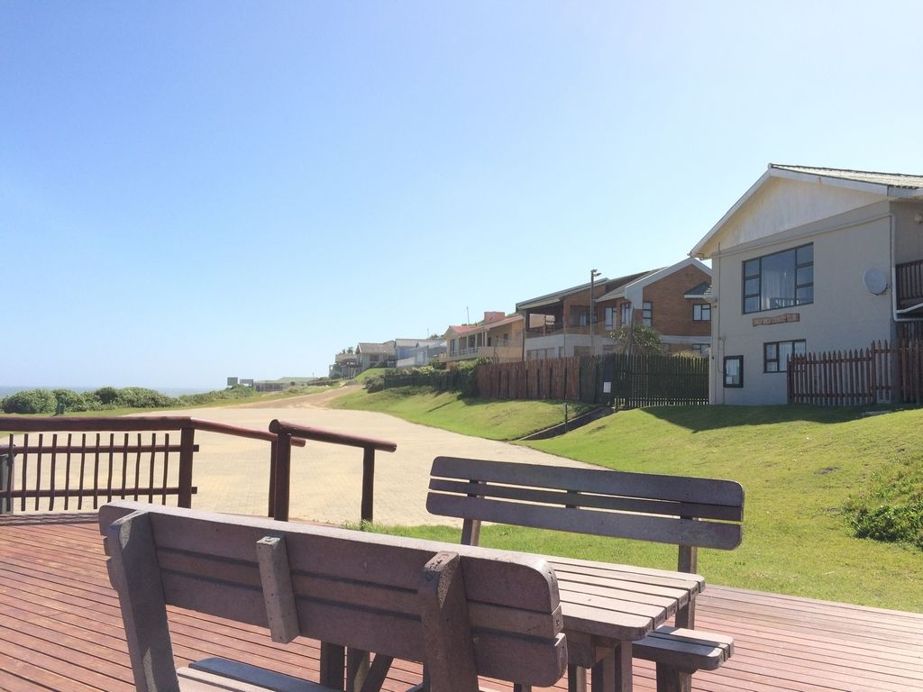Wooden deck overlooking the club house