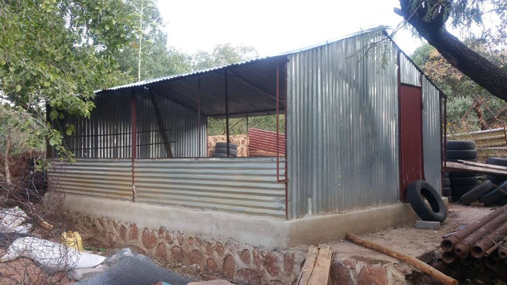 Poultry shed.