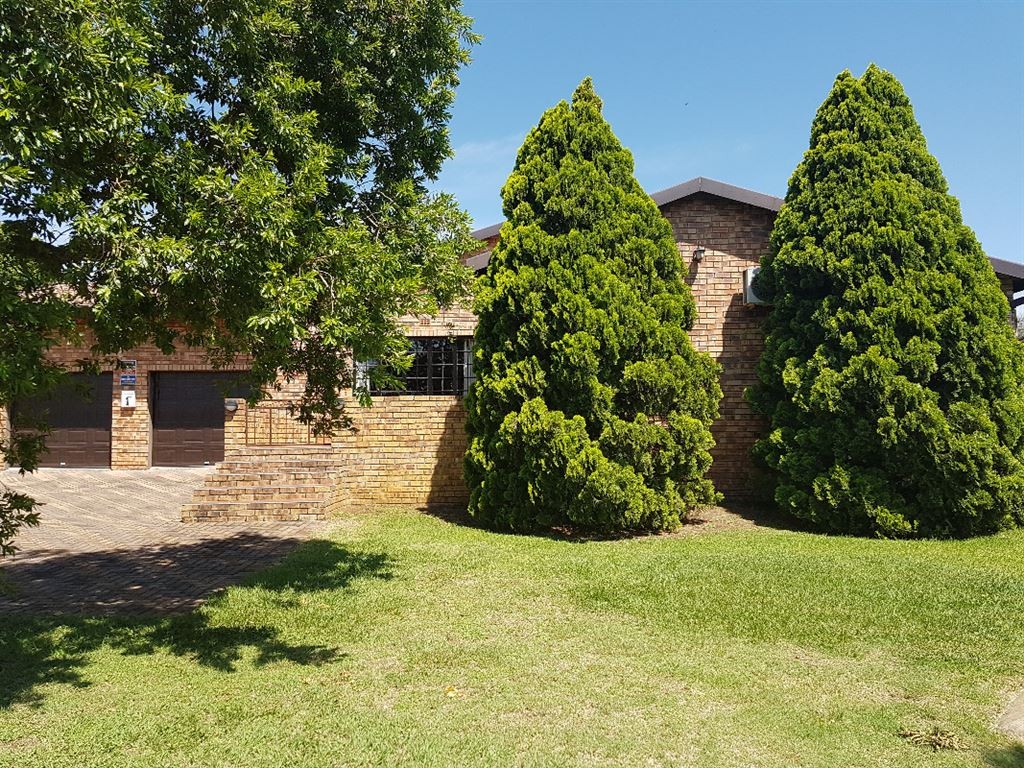 front view of garden and home