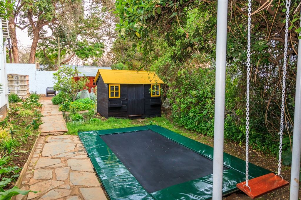 Trampoline, Vegetable Garden and Shed