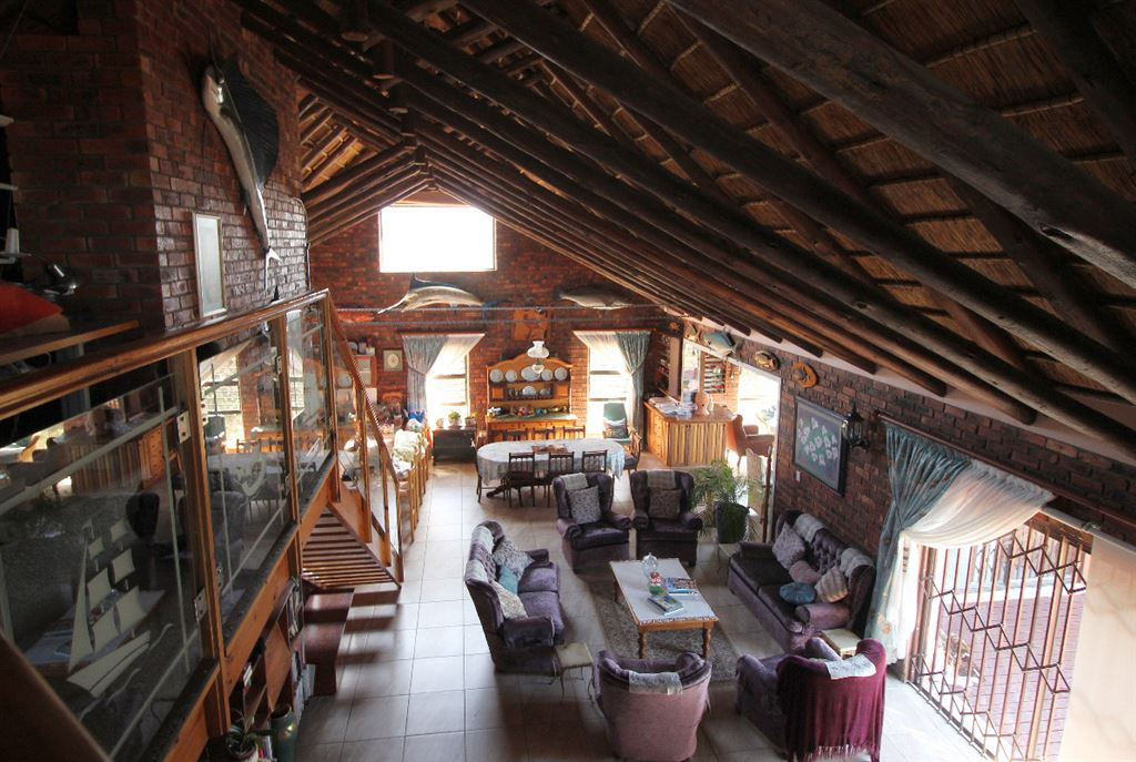 The lodge from the mezzanine lounge above