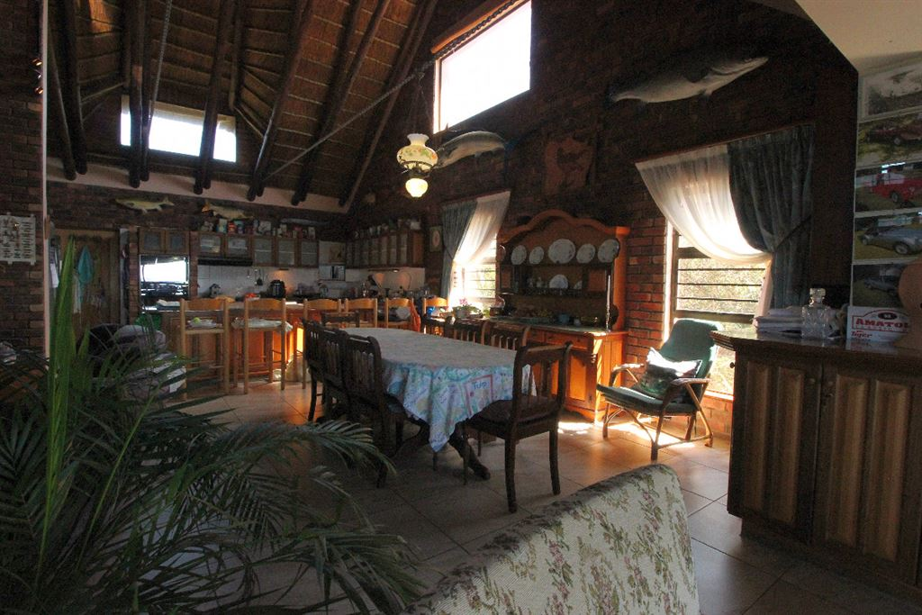 Dining and kitchen area of the lodge