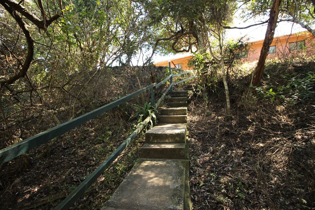 Stairway from the camping sites to the single units block
