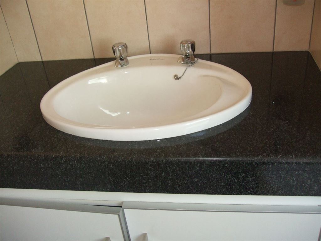 Basin in bathroom