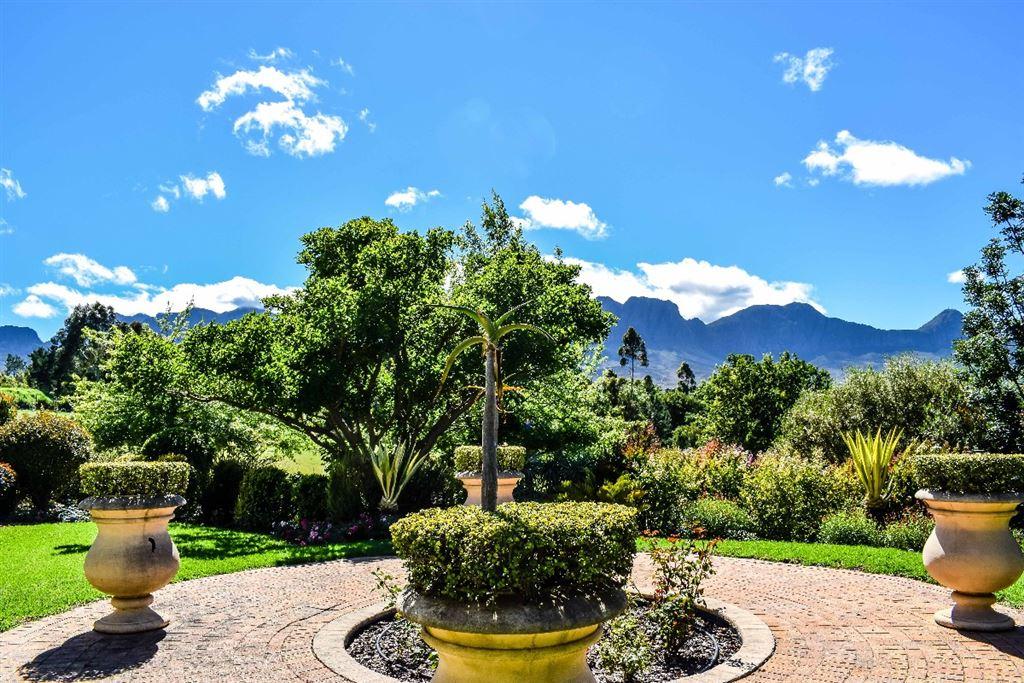 Garden and mountain views
