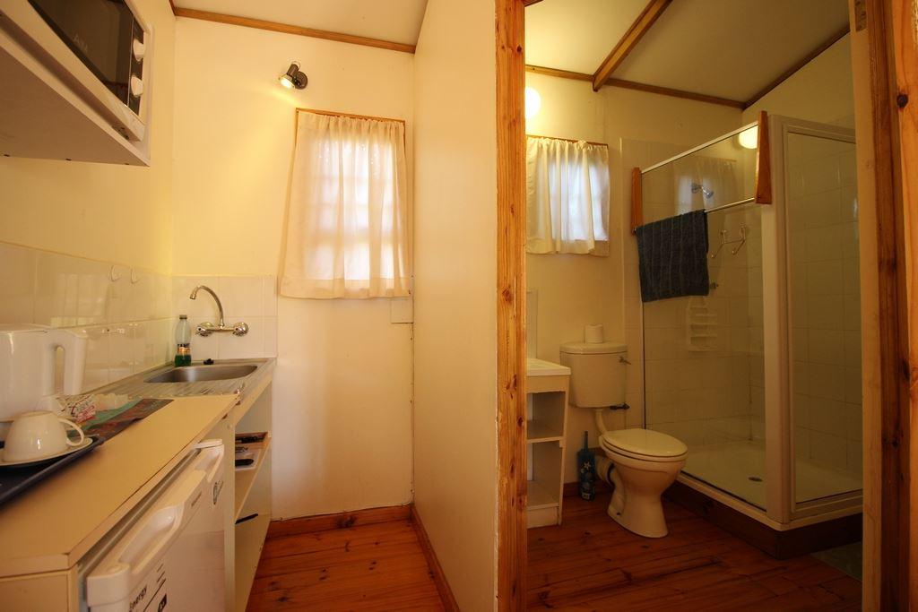 Kitchenette and en suite of the single unit
