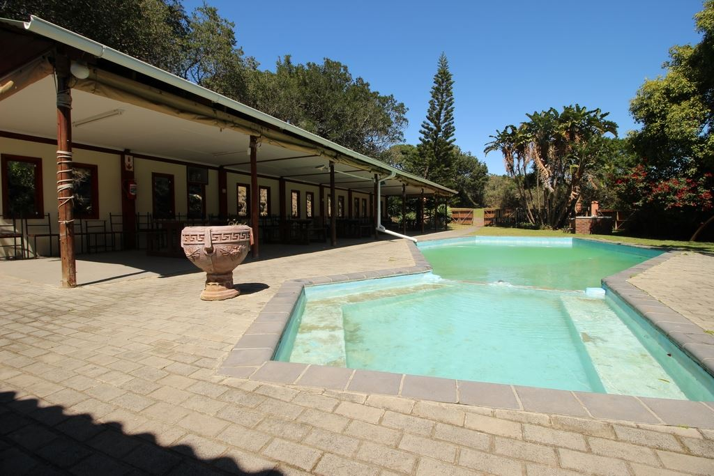 Beautiful pool and covered rest area