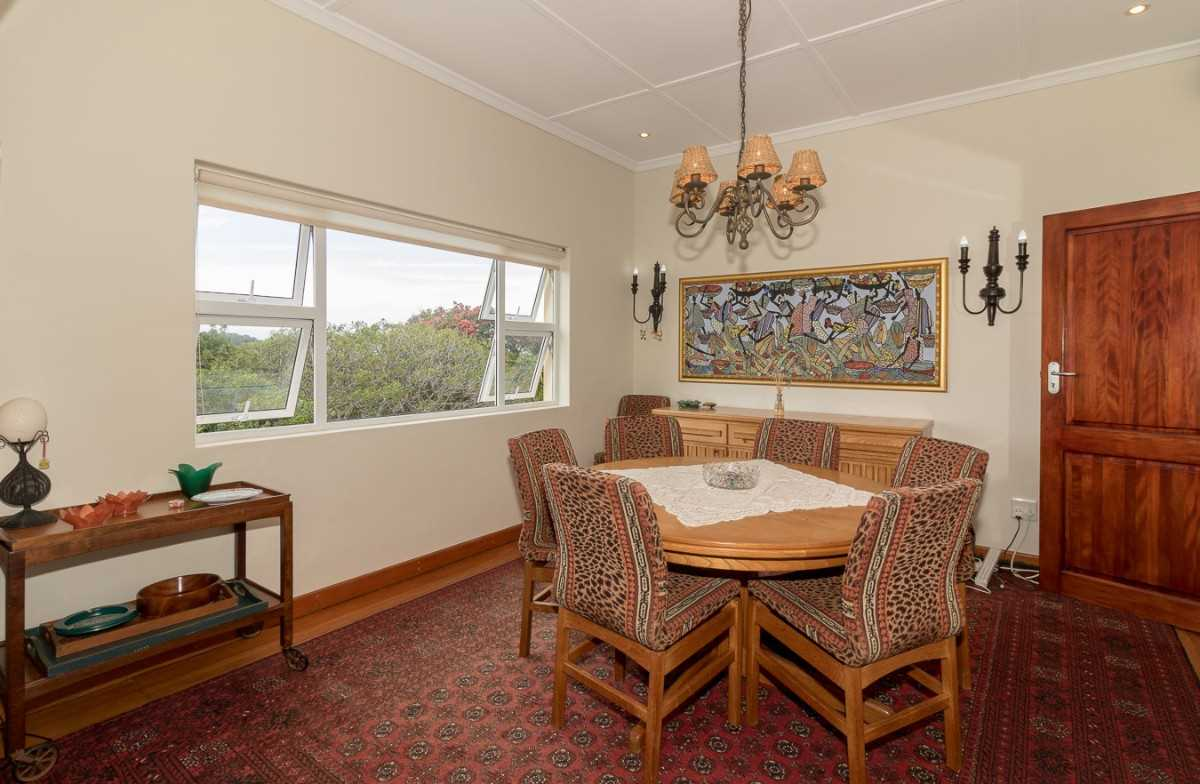 Double Storey Family Home with Flat For Sale In Port Alfred, formal dining room with views.