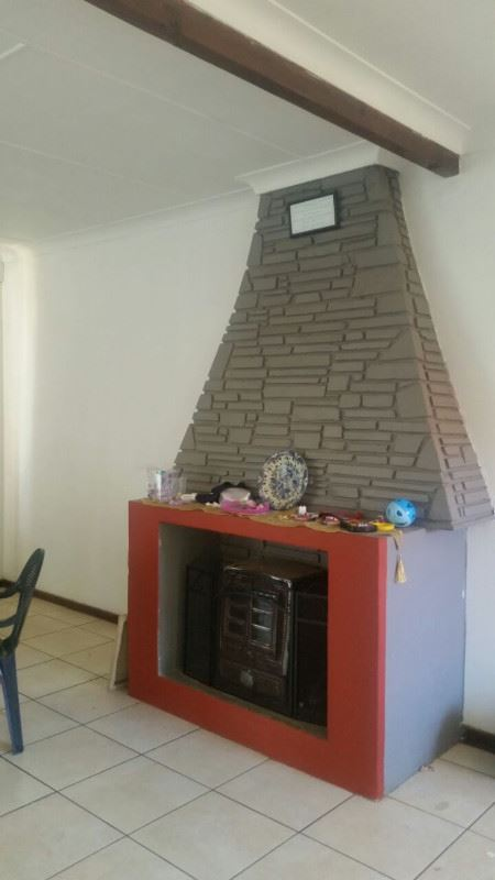 Fire place in the lounge area.