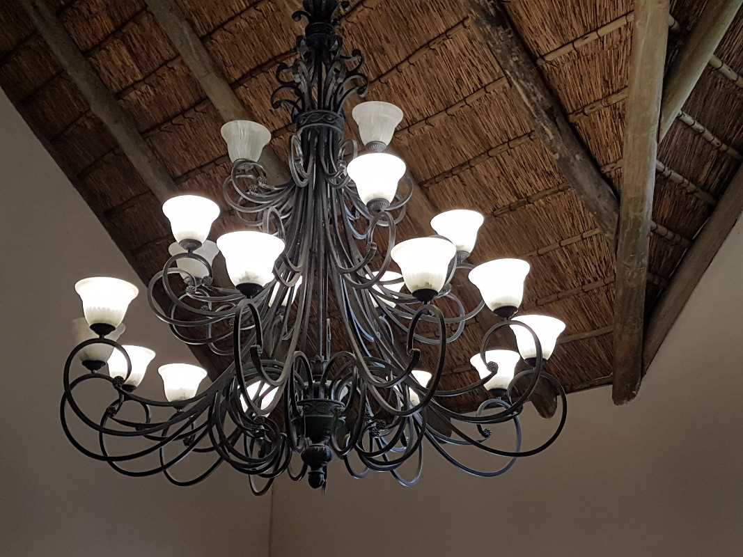 Chandelier in the main living area