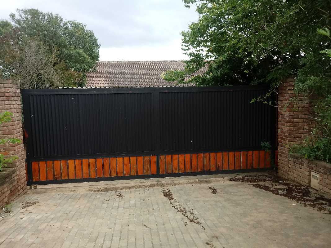 Front Entrance with sliding gate