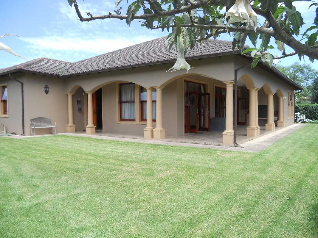 Great level private garden , with a decent veranda with a built in braai