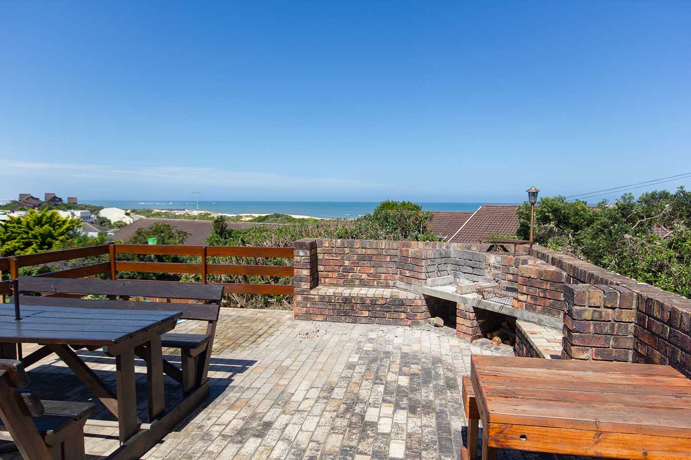 Outside entertainment area with stunning views