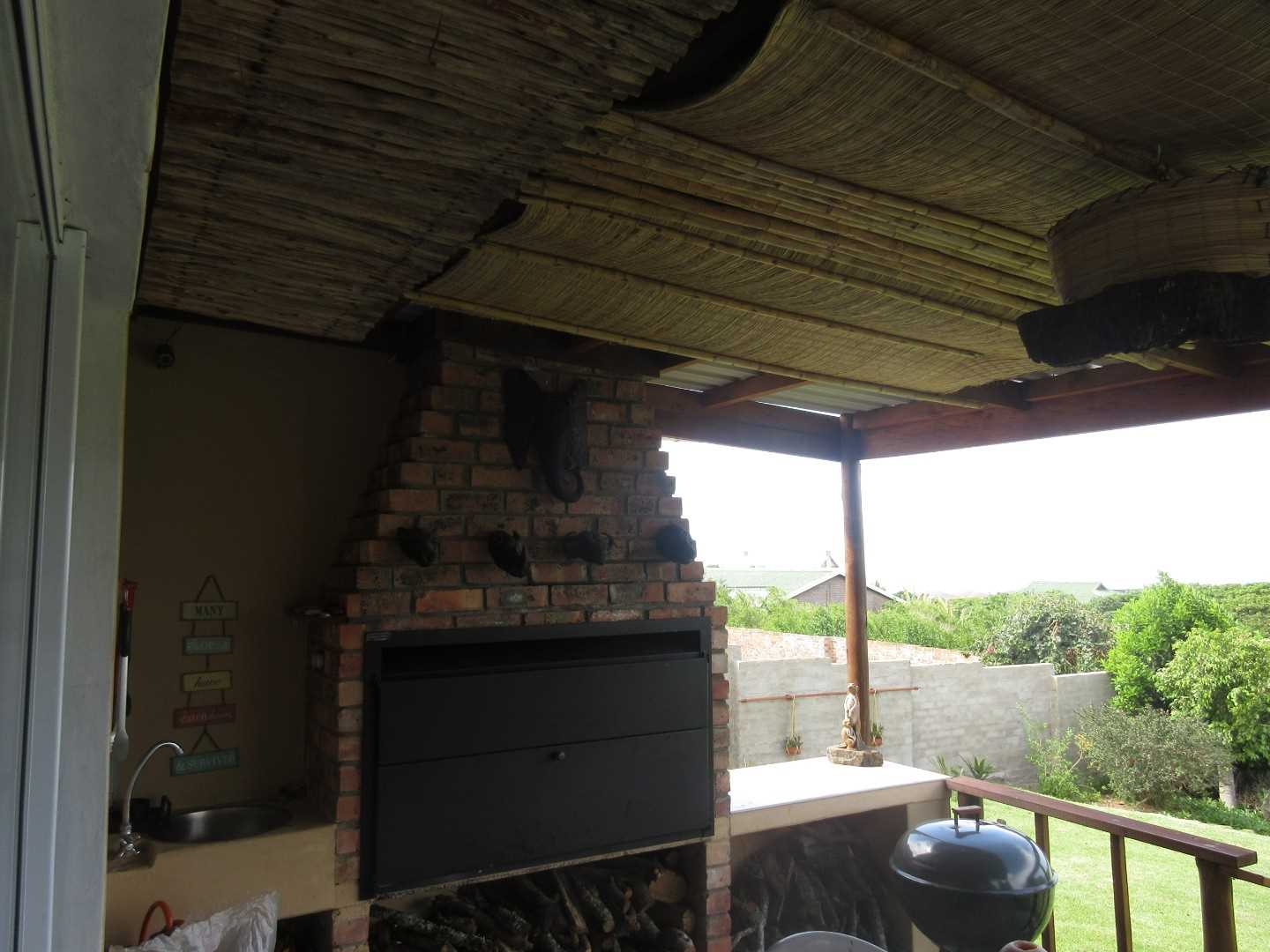 Covered entertainment area with built-in braai