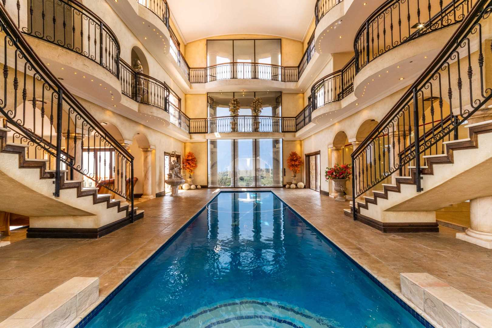 Heated Pool at the Heart of Mansion