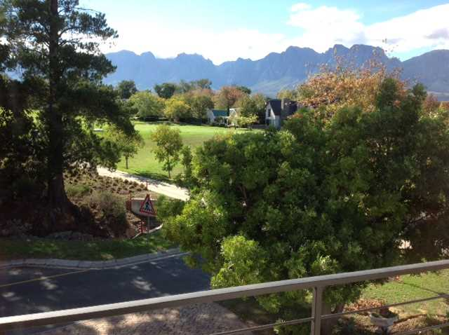 Hottentots-Holland mountain views from the lounge balcony.
