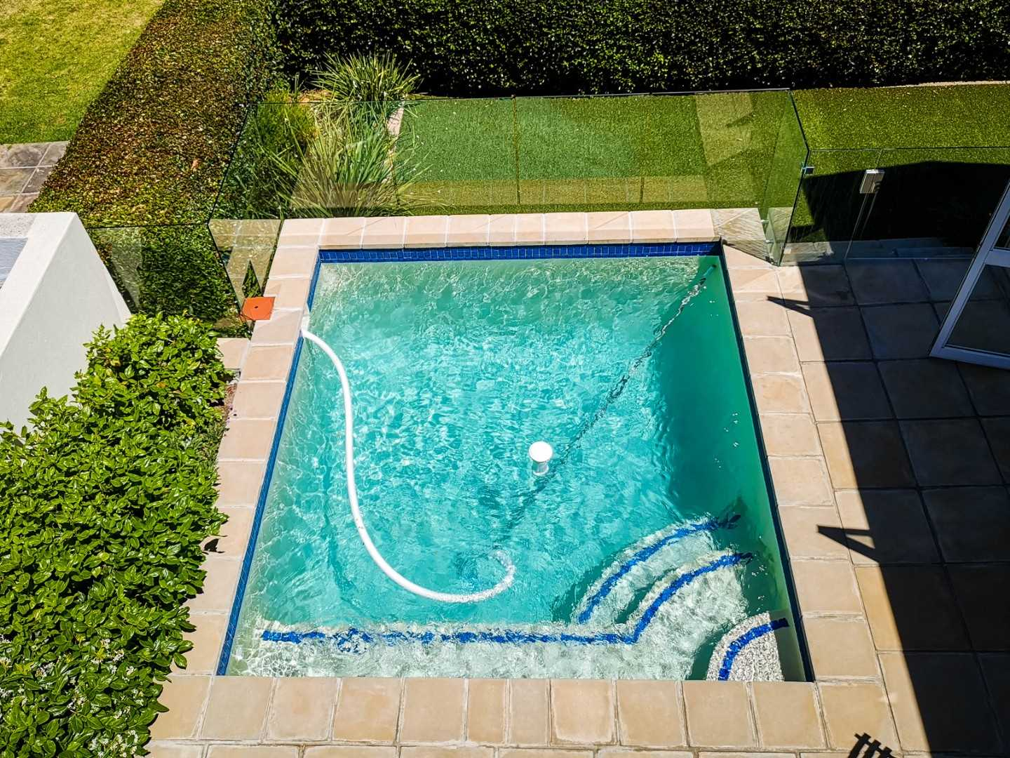 View of the pool from above