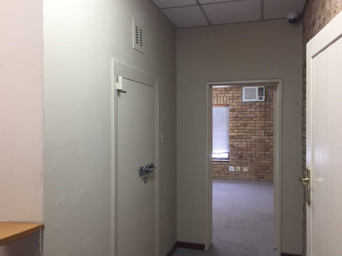 Large walk in safe next to reception area.