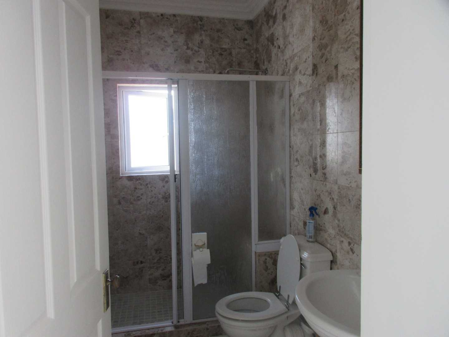 Guest bathroom downstairs with shower