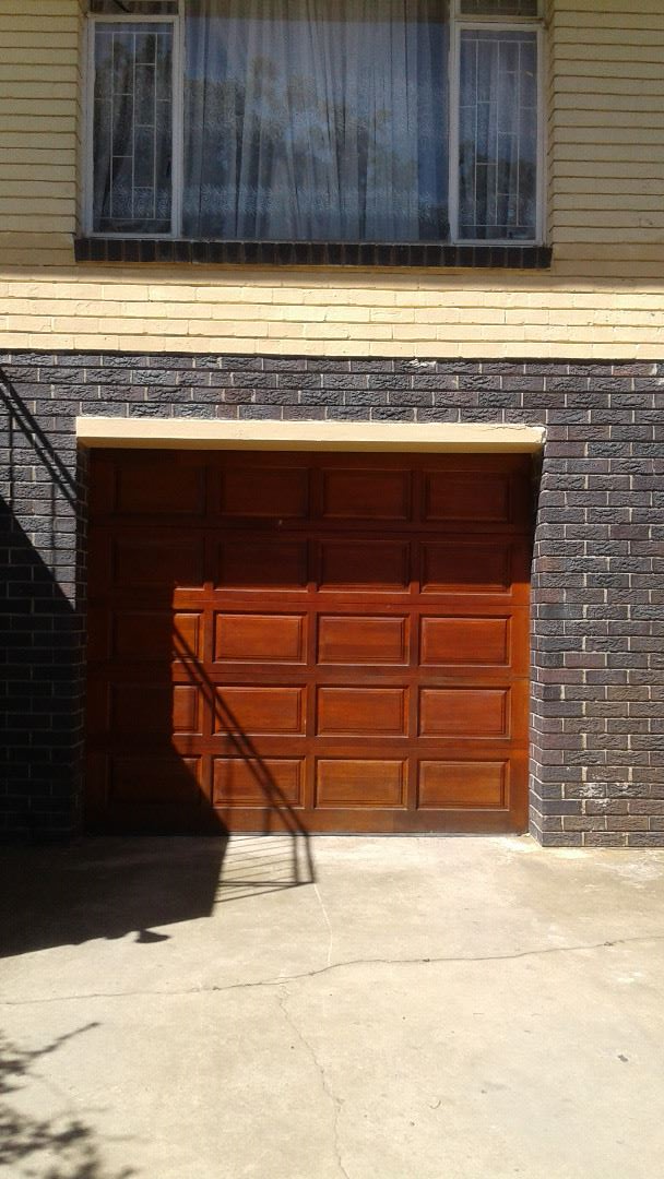 Spacious lock up garage.