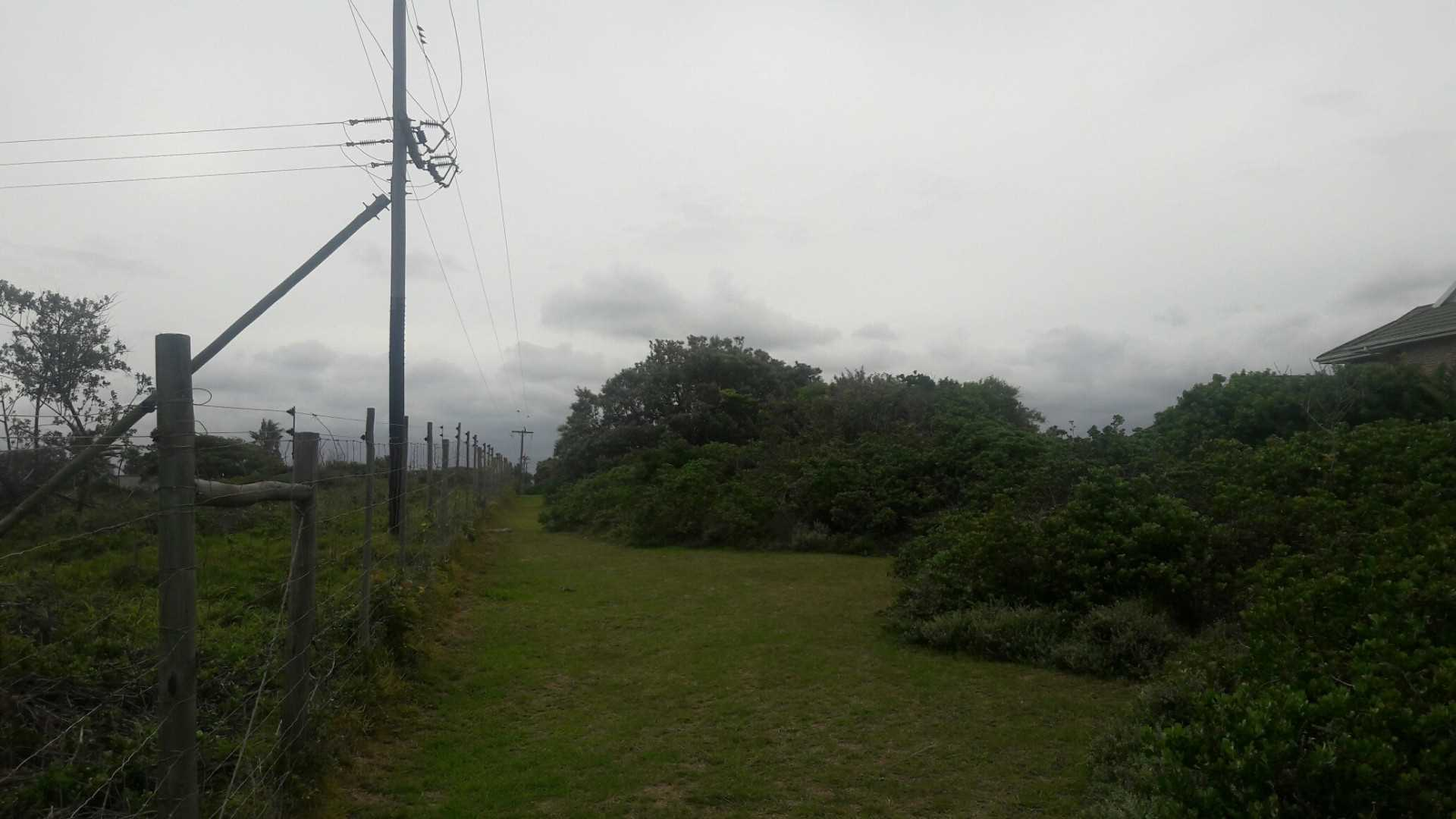PLOT FROM THE FRONT - BOUNDARY FENCE