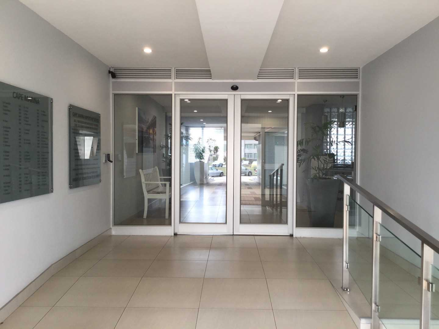 Front entrance - fingerprint access and security guard on duty