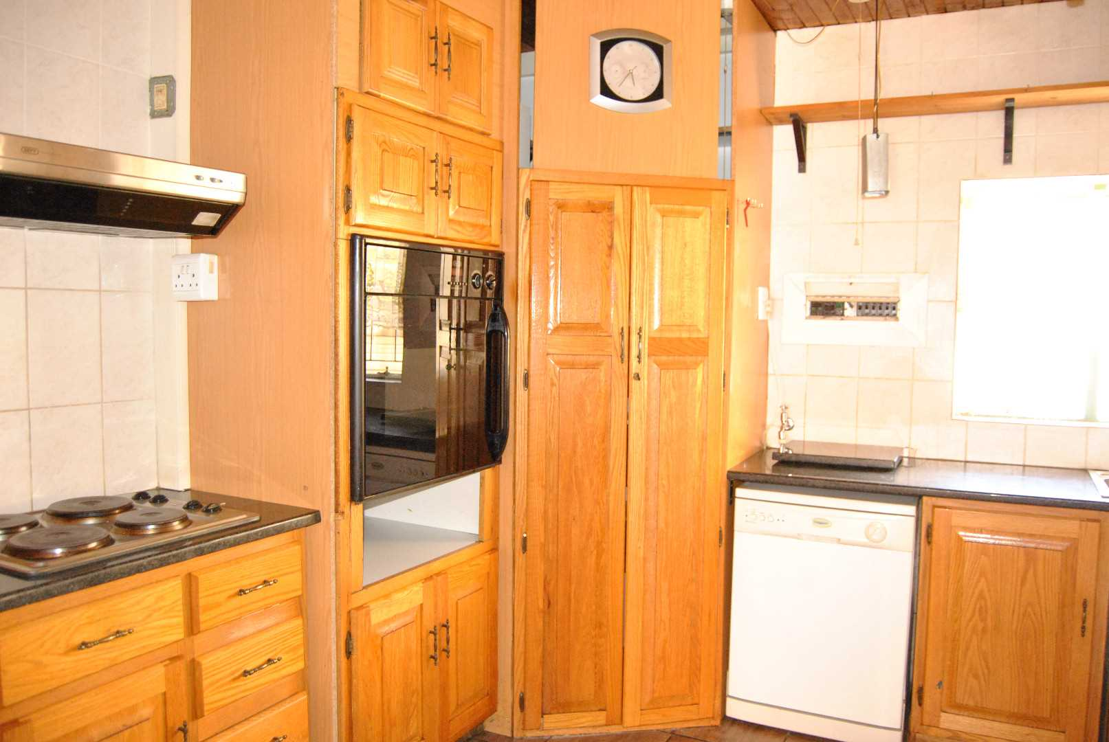 kitchen with eye level oven