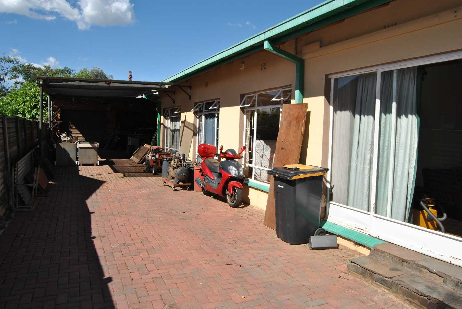 driveway with double garage