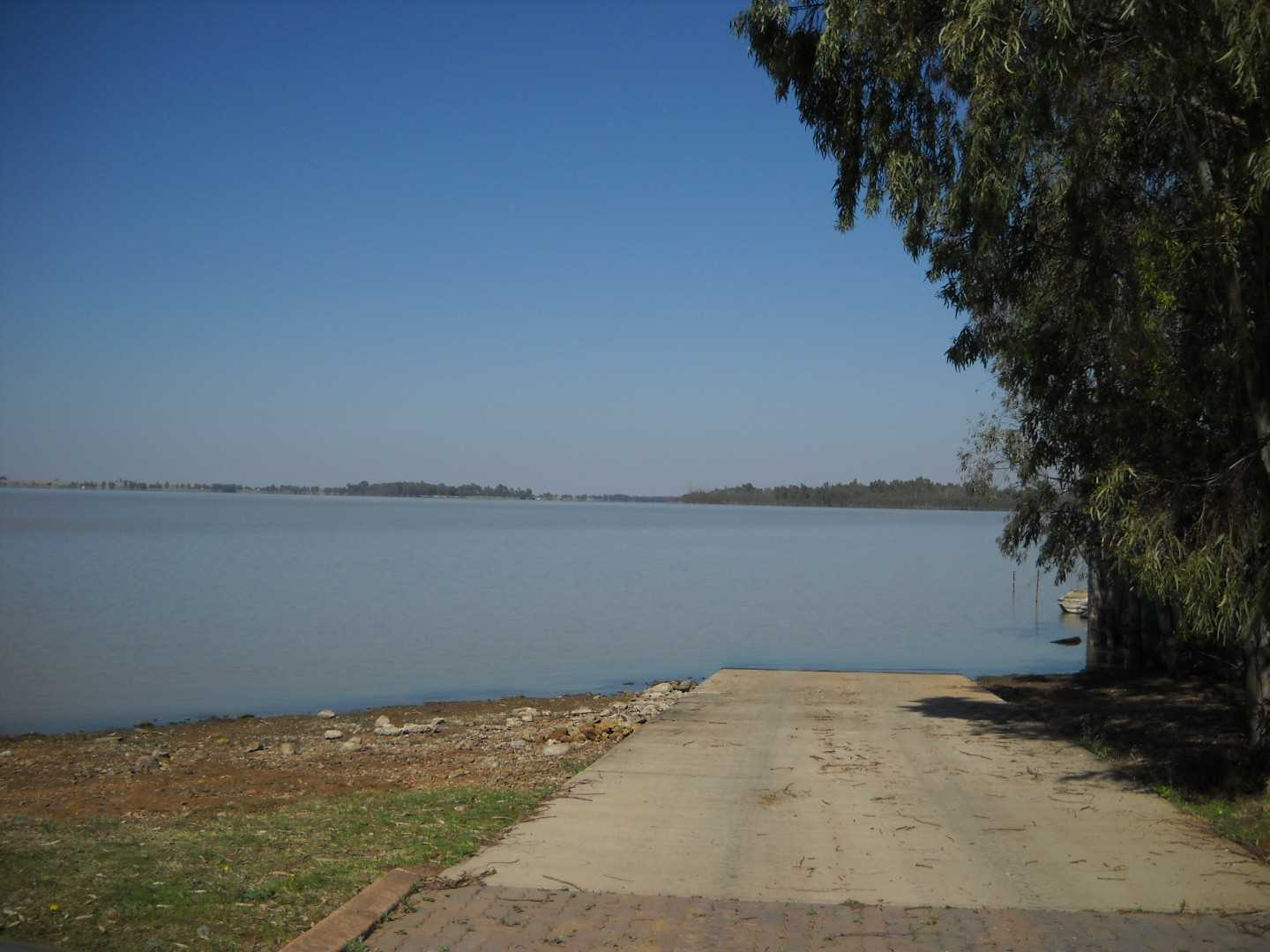 Slipway to launch into the Vaal Dam