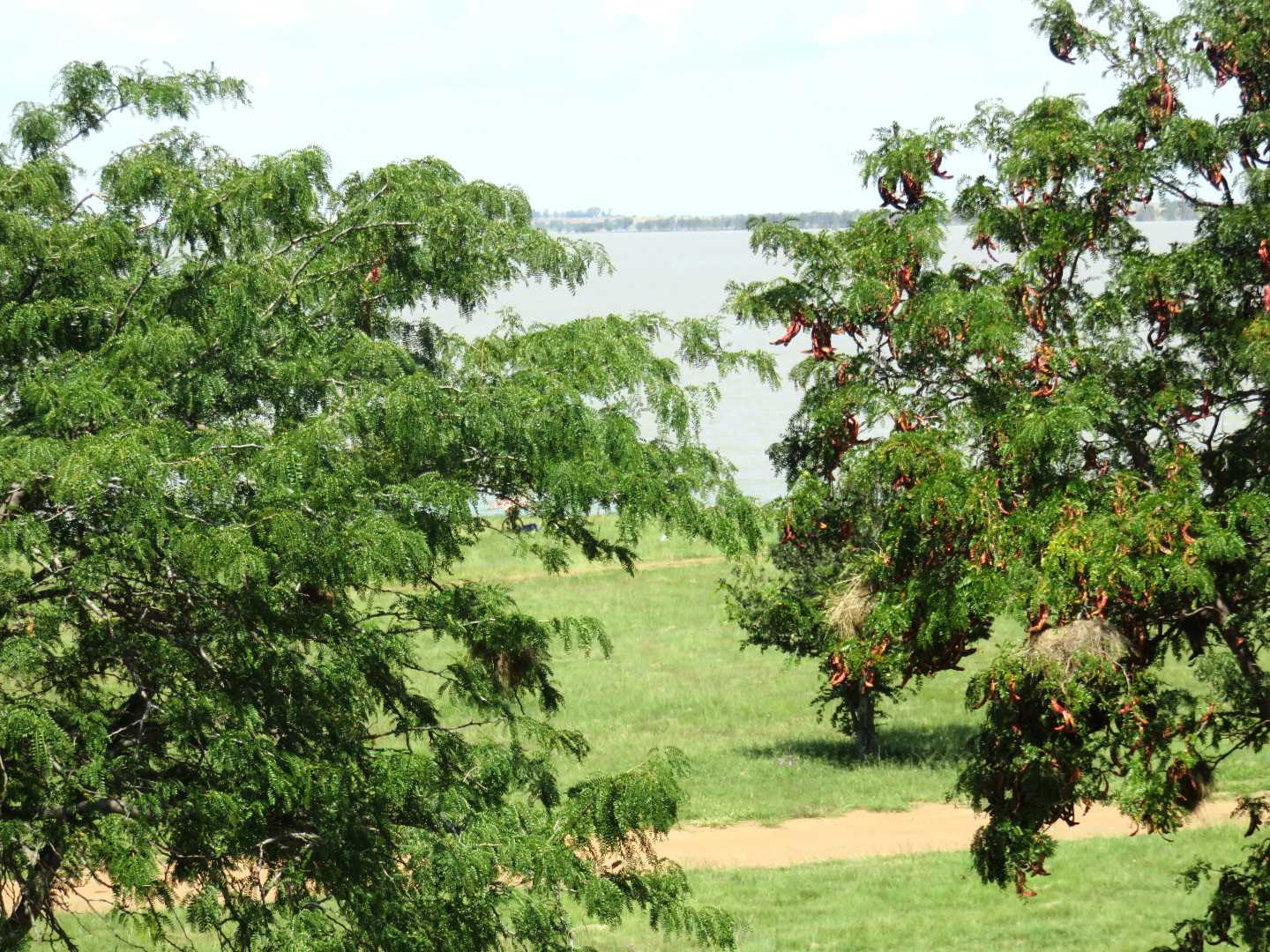 Views of the Vaal Dam from the windows of the apartment