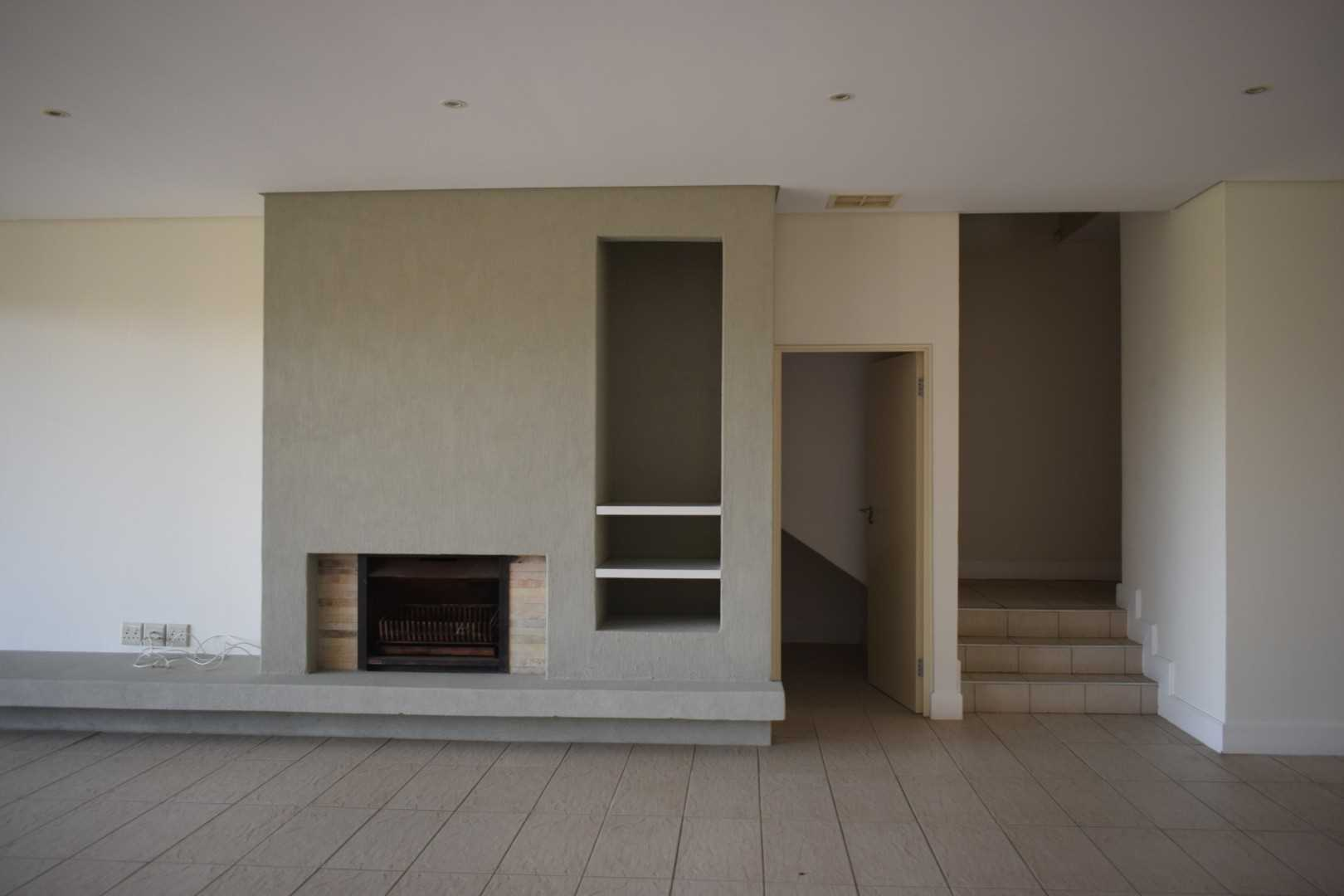 Fireplace with wood store