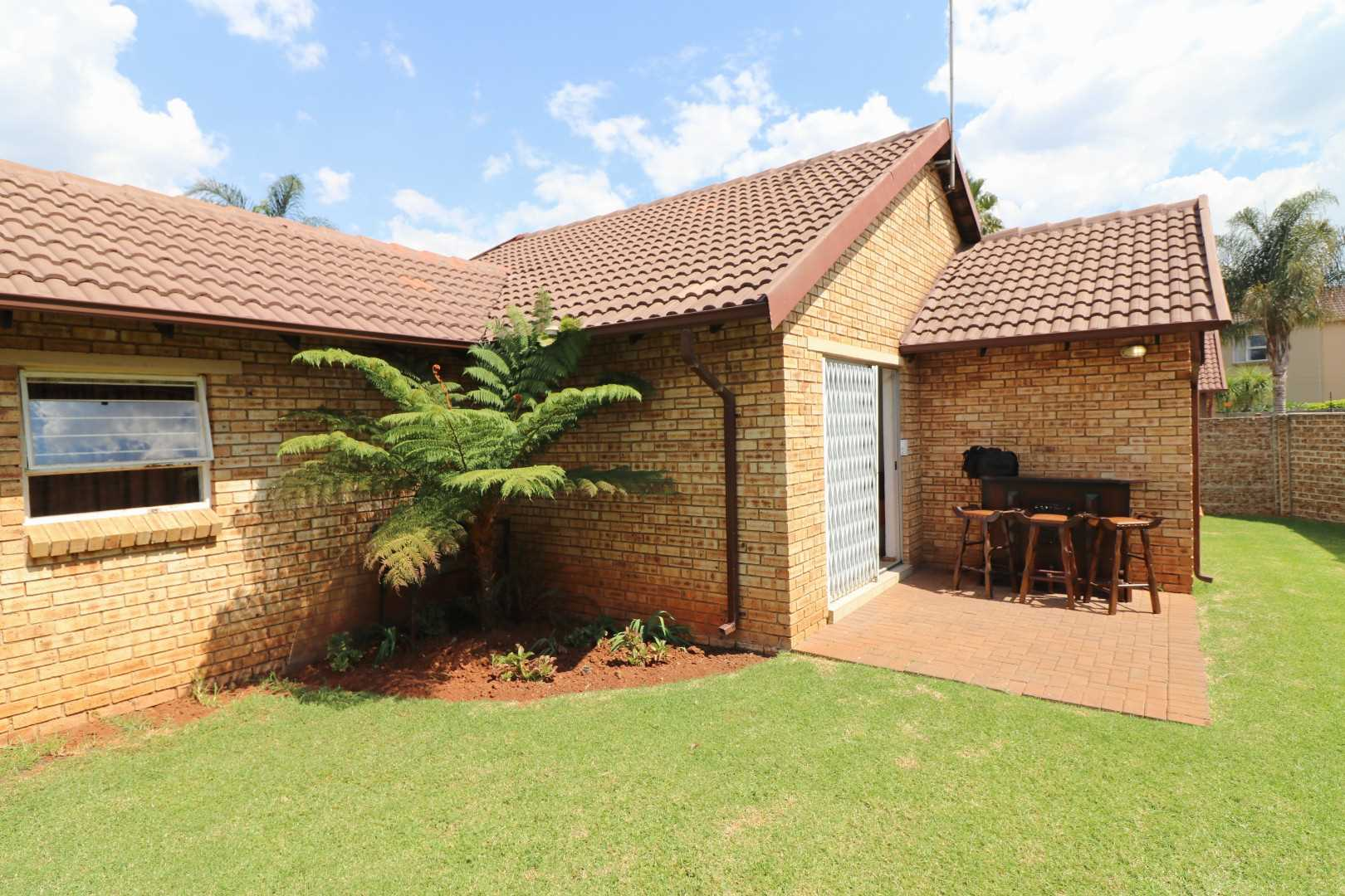 Secure two bedroom cluster with low maintenance