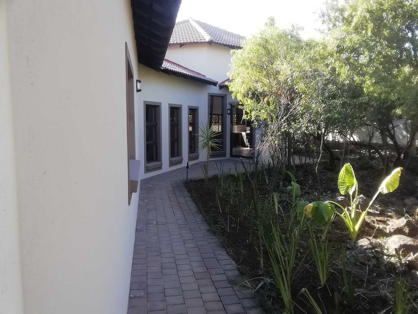 Side of house and garden