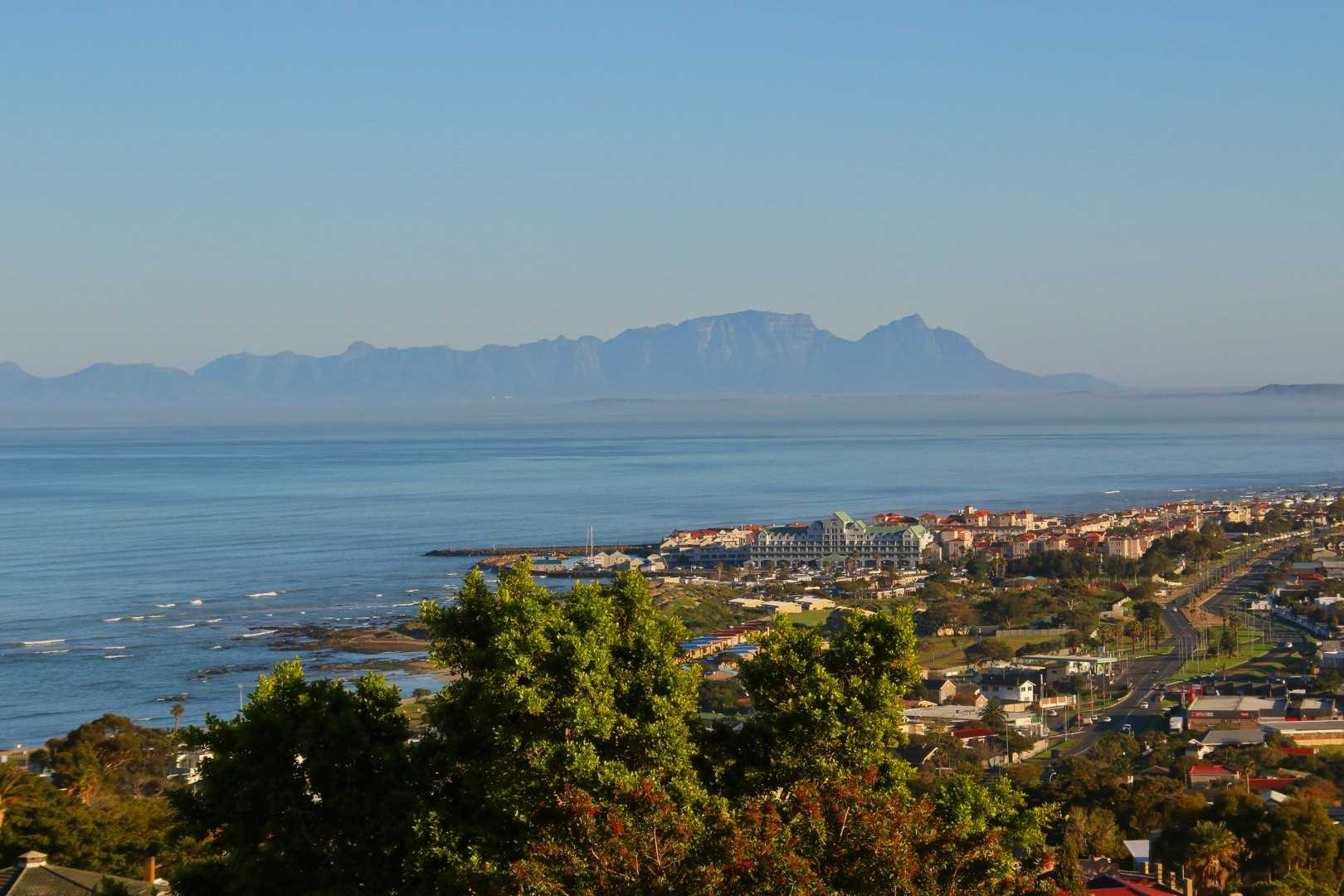 False Bay sea view with Table Mountain in the distance