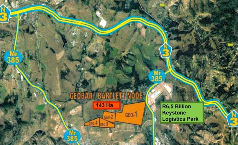 Position in relation to Keystone Park