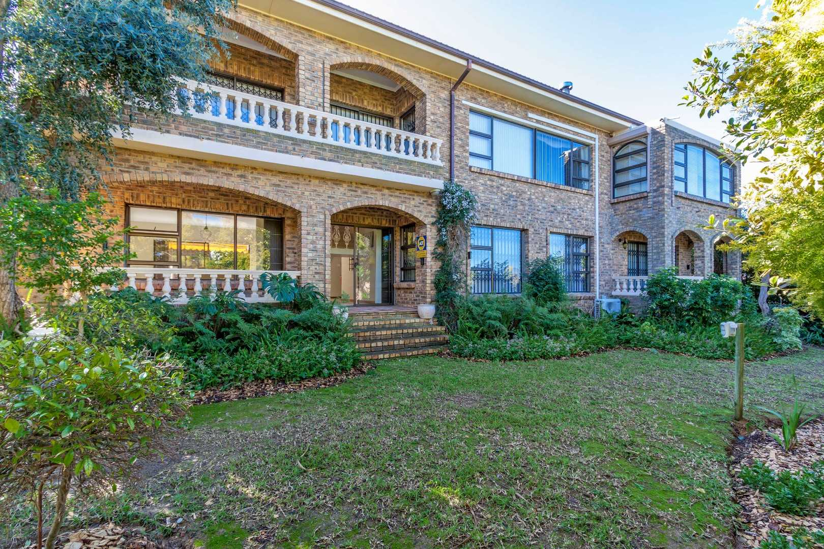 Back of house - private garden, private balconies with beautiful views