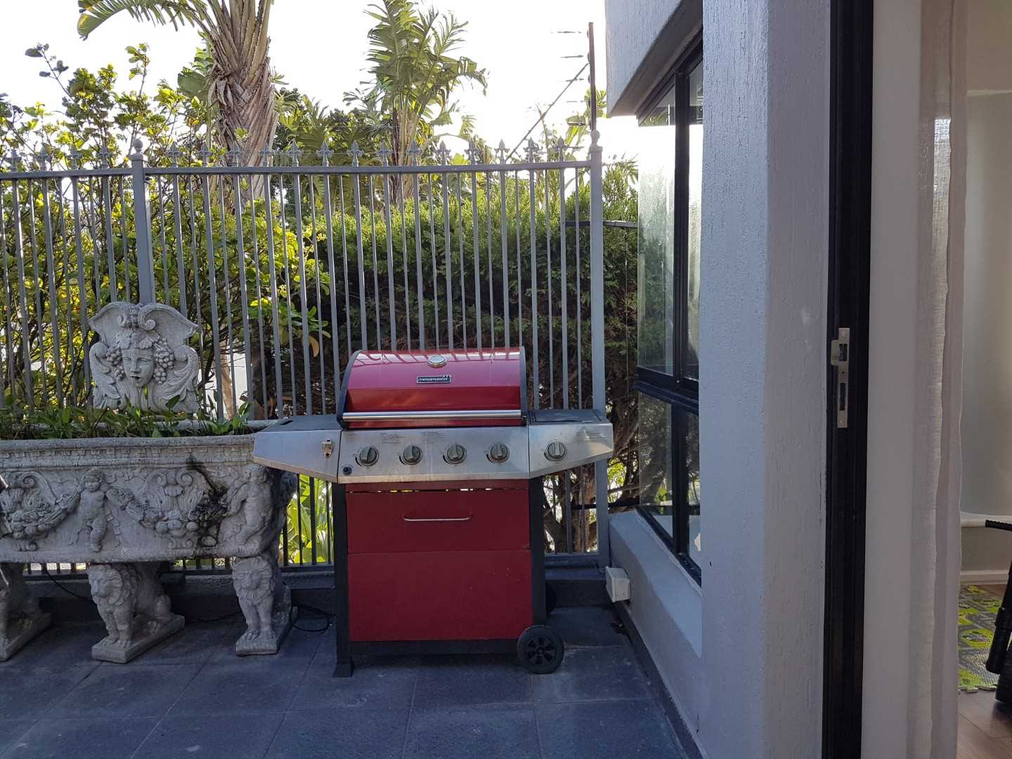 Gas BBQ on terrace