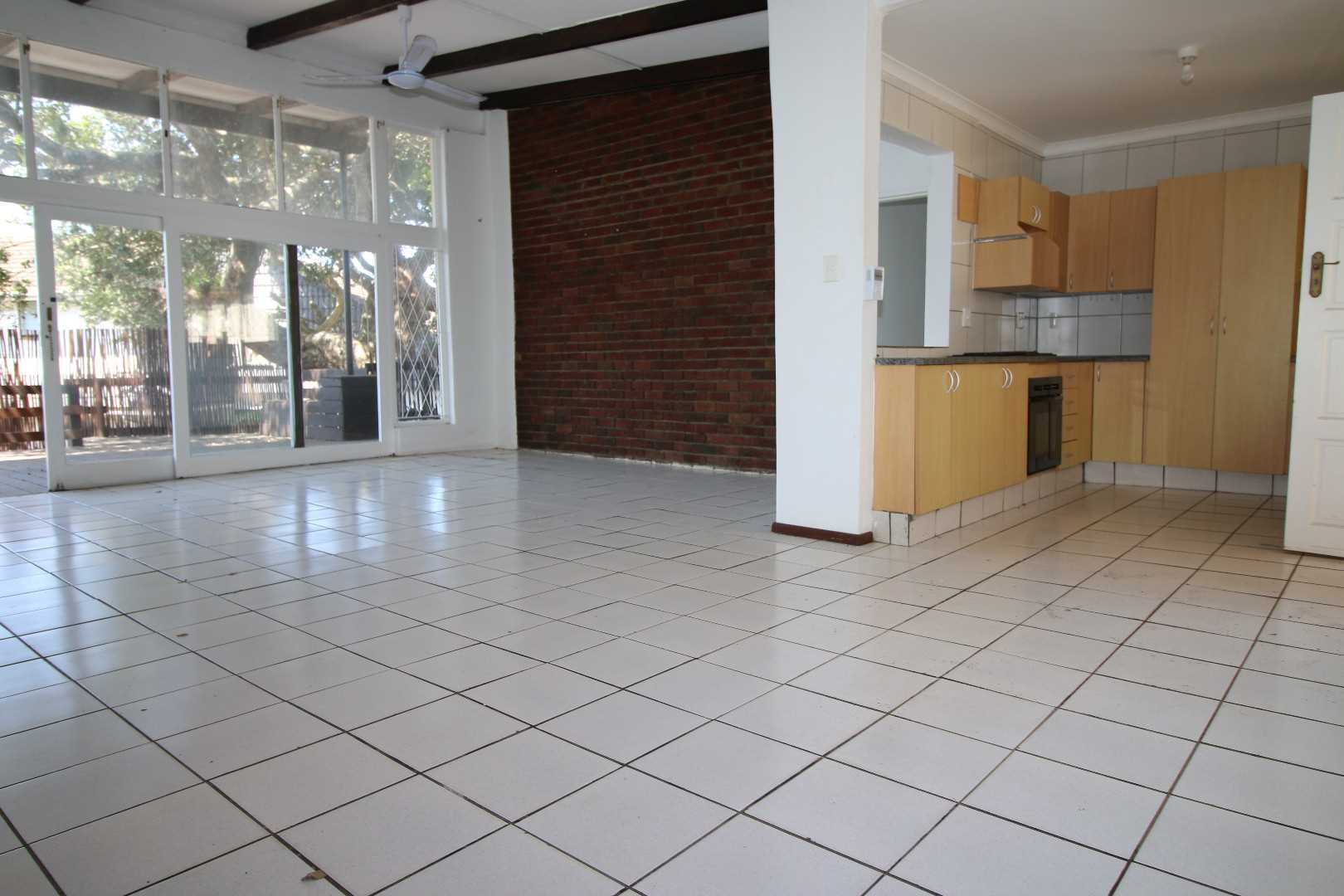 Large open plan living area and kitchen