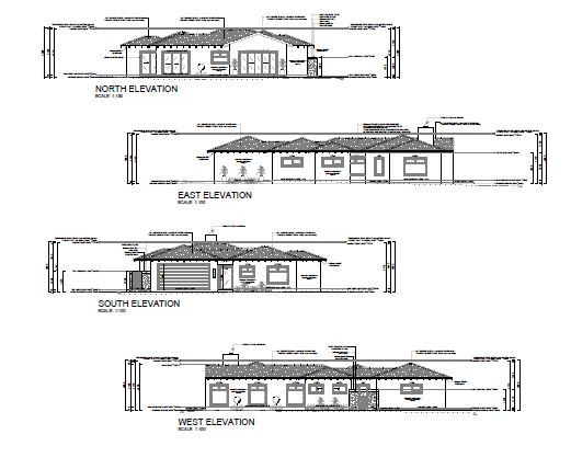 Plans of side views