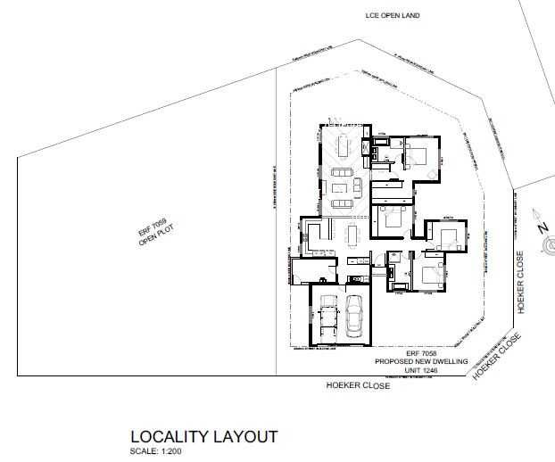 House lay-out on plot