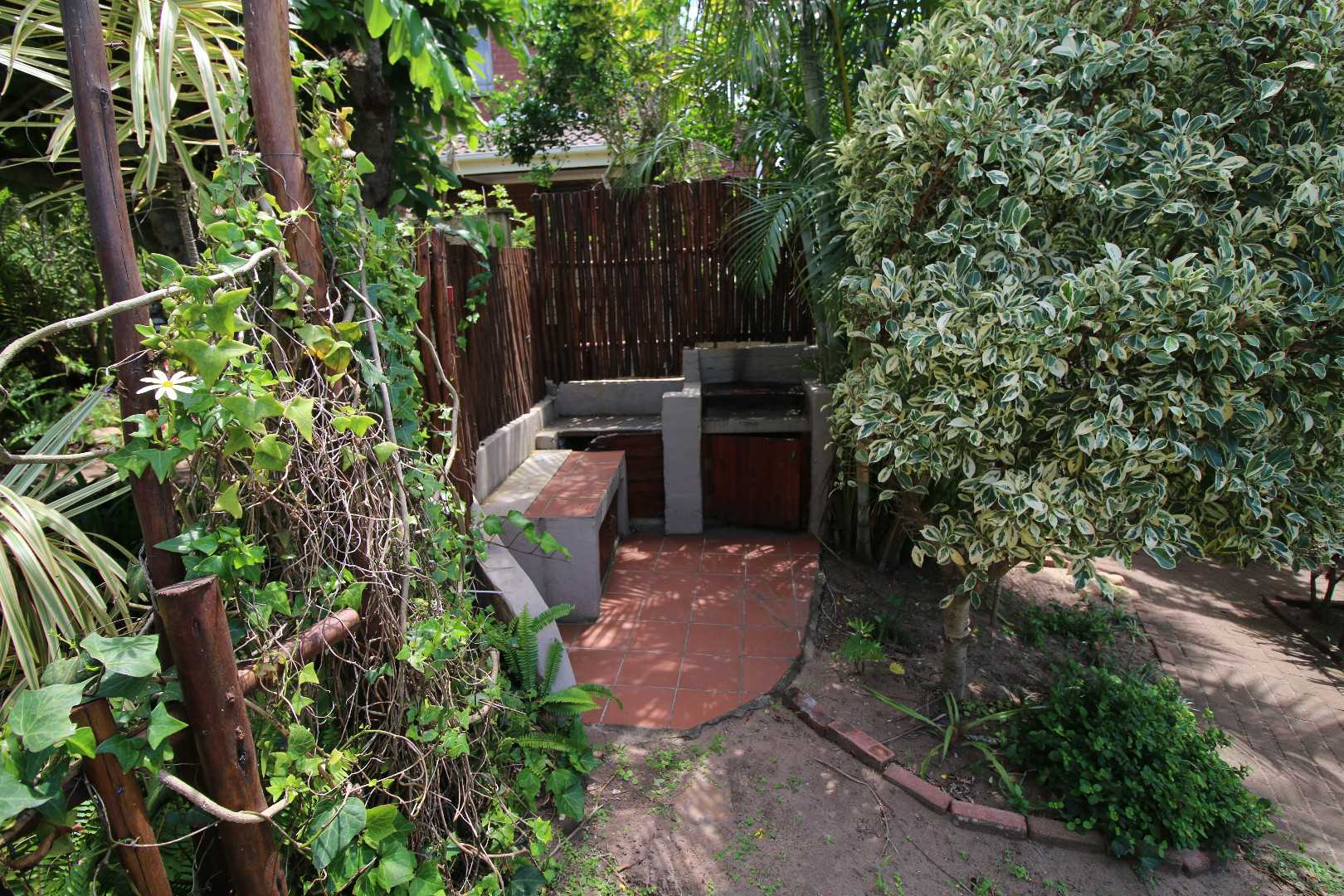 Braai facility in garden