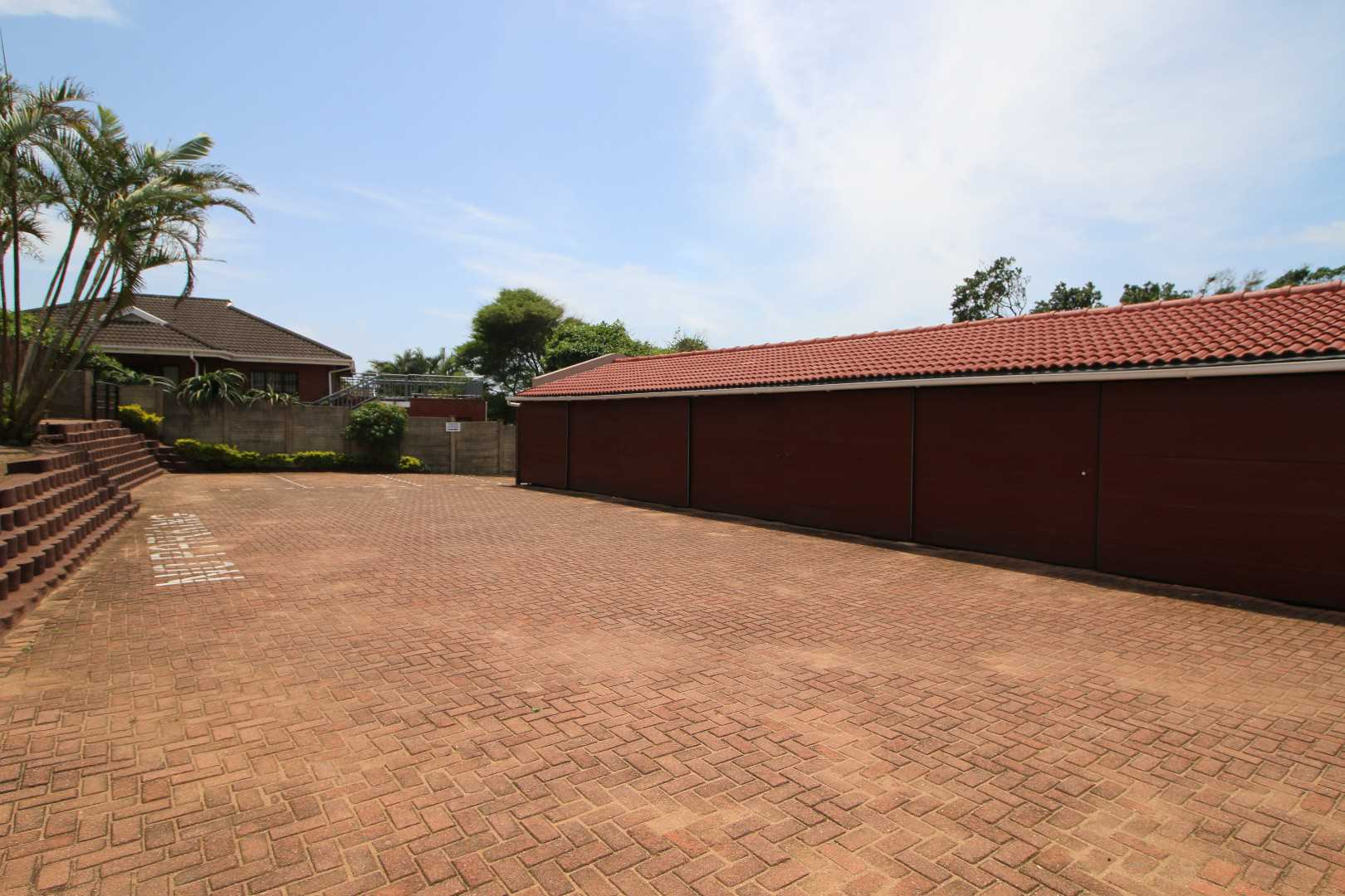 Garages and parking area