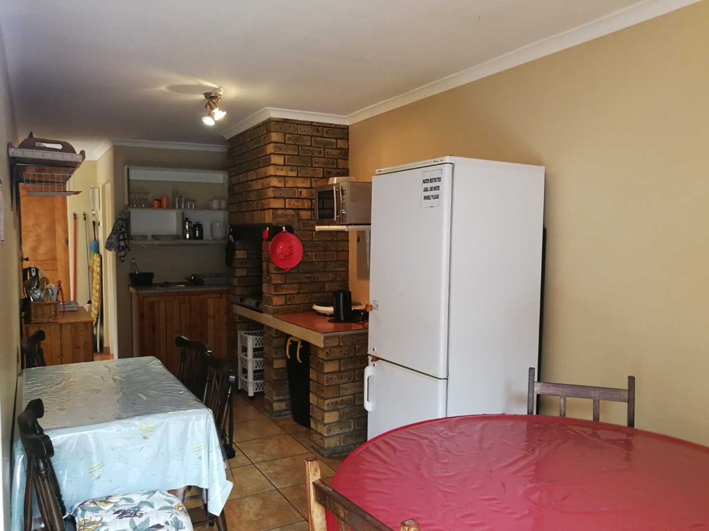 Shared  kitchenette and dining area in the double-storey unit