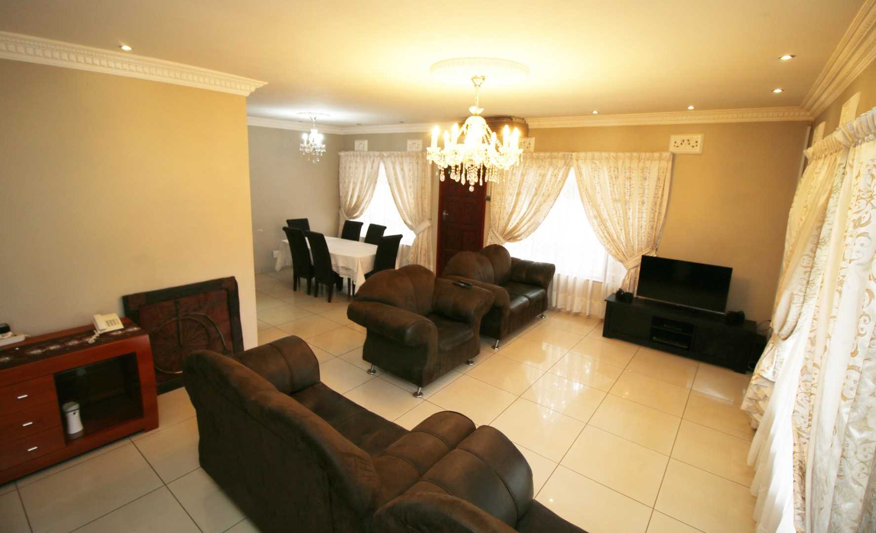 Open lounge and dining area