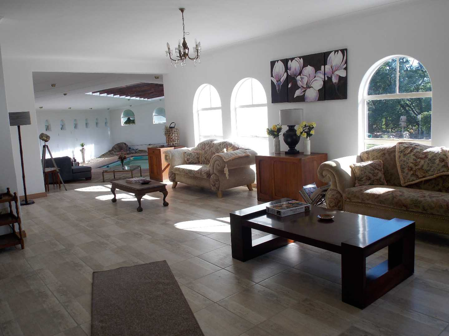three living room spaces in the main house