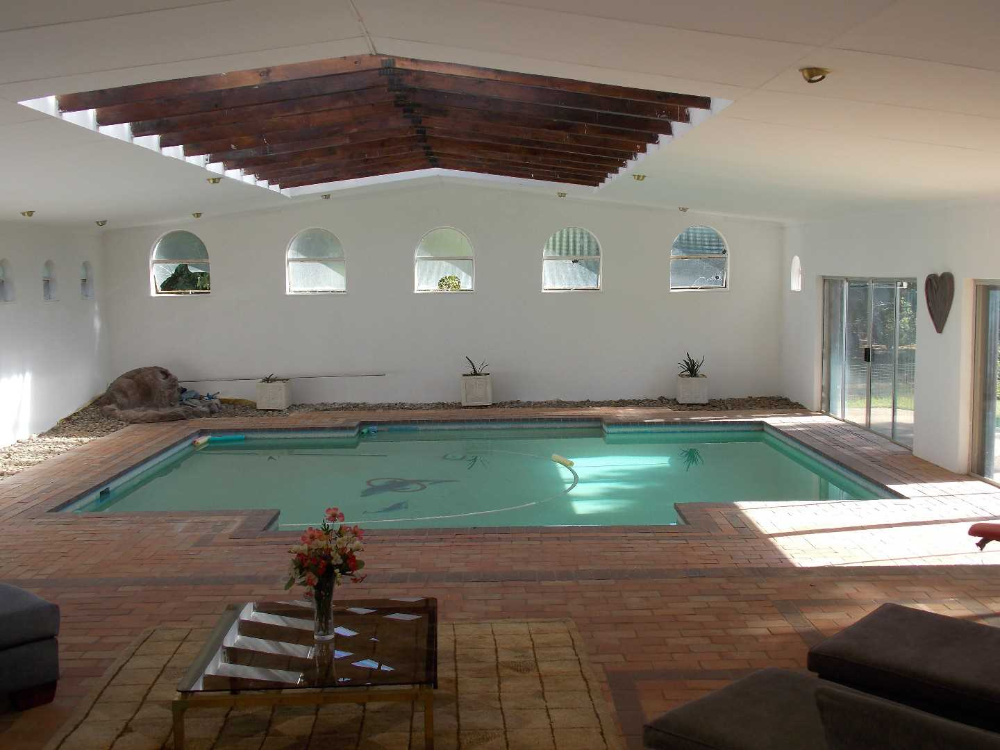 Indoor heated pool in the house